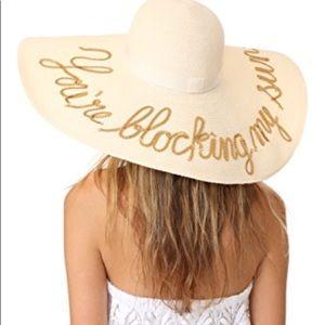 """GORGEOUS Eugenia Kim """"You're Blocking My Sun"""" hat"""